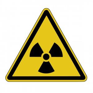 Echter Ökostrom Atomenergie Warnschild