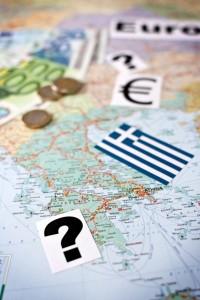 Euro Krise Karte Geld