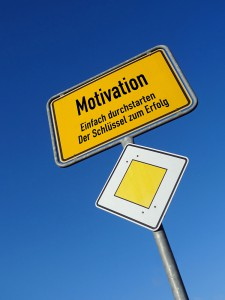 Firmenschulung Motivation Schild